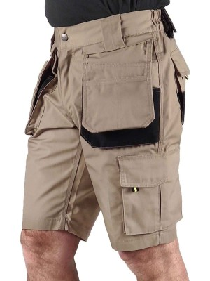 STØRVIK Korte Werkbroek Short Khaki - XS-3XL - JOB