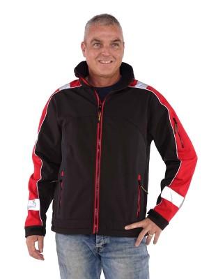 Storvik Softshell Werkjas zwart met rood - Glenn