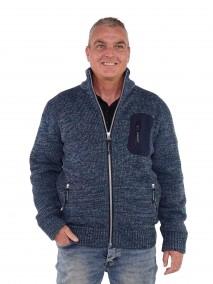 Gebreid Vest Heren Acryl Denimblauw - S-4XL - EDEN
