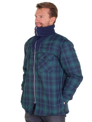 STØRVIK Thermoblouse Zeer warm Blauw / Groen - M-3XL - VANCOUVER