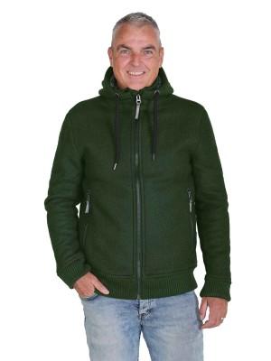 Gebreid Vest Heren Borgvoering Olijfgroen - M-4XL - TORRE