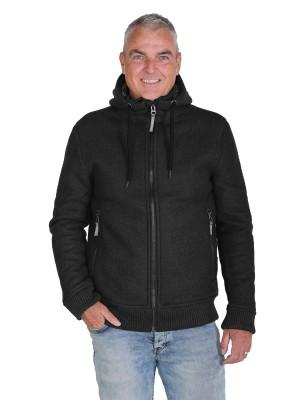 Gebreid Vest Heren Borgvoering Zwart - M-4XL - TORRE
