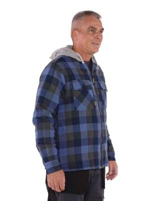Storvik Capuchon Vest Teddy Gevoerd blauw geblokt - Bing