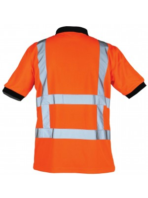 Oranje reflecterende werk polo