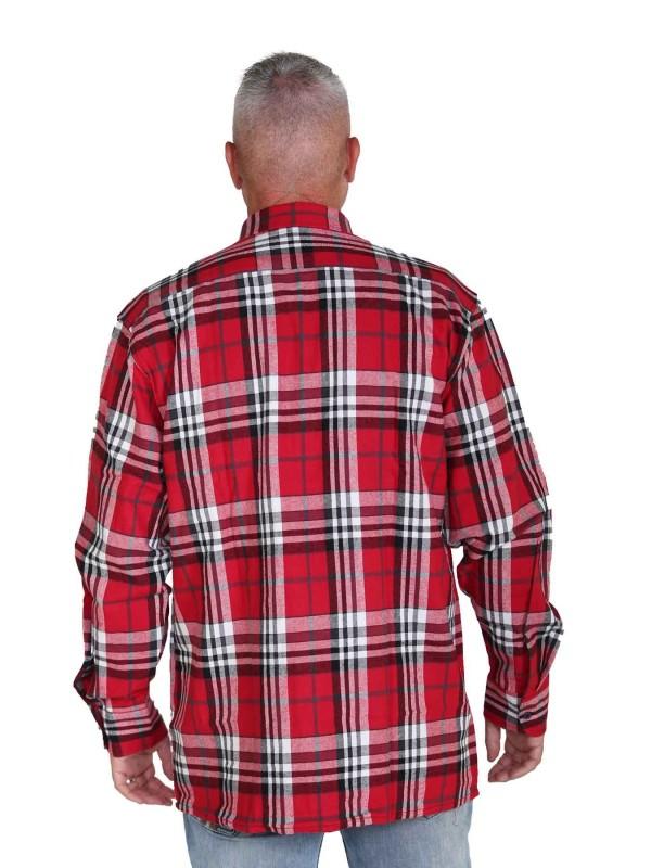 Flanellen Blouse Heren Katoen Rood - S-6XL - DAWSON
