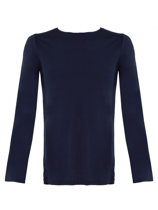 Donkerblauw thermoshirt met lange mouwen
