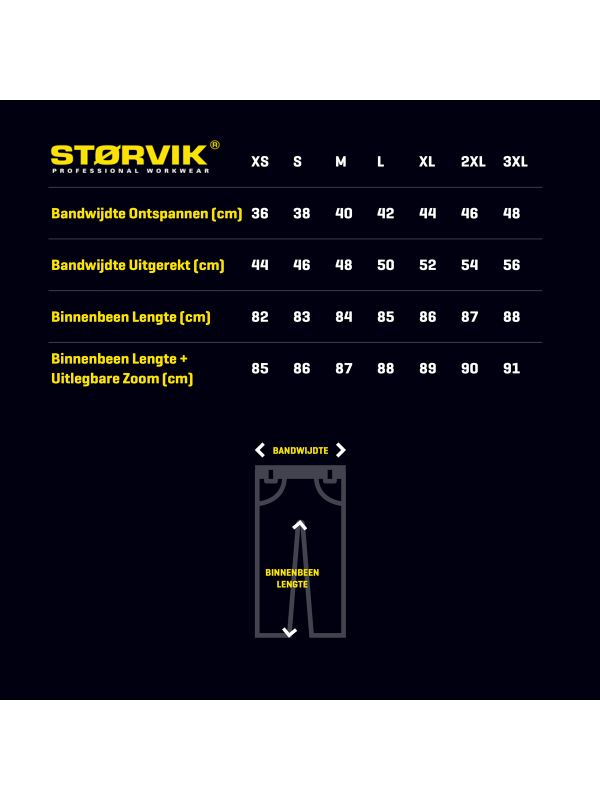 STØRVIK Werkbroek - XS-3XL - DAVID