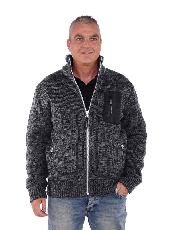 Gebreid Vest Heren Acryl Grijs - M-4XL - EDEN
