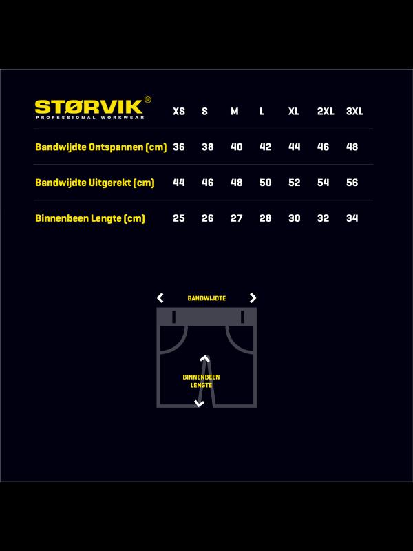 STØRVIK Korte Werkbroek Short - XS-3XL - JOB