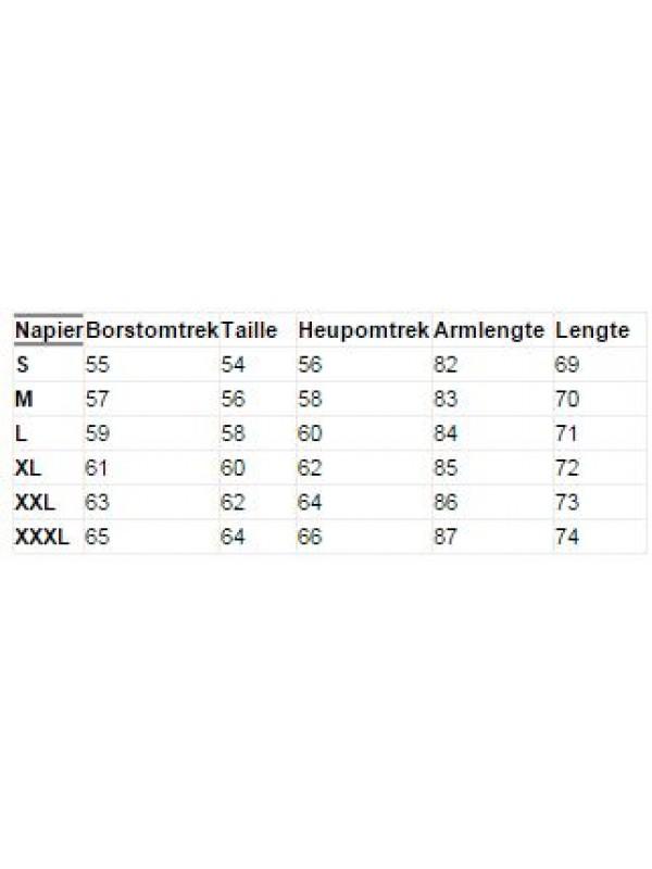 Maattabel Storvik Softshell Werkjas Napier