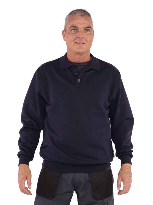 STØRVIK Polo Sweater 4 seizoenen Heren Donkerblauw - S-3XL - NAPOLI