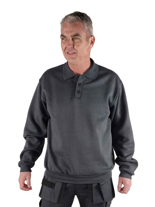 STØRVIK Polo Sweater 4 seizoenen Heren Antraciet Grijs - S-3XL - NAPOLI