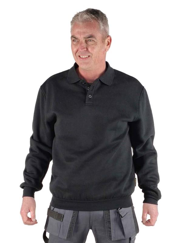 STØRVIK Polo Sweater 4 seizoenen Heren Zwart - S-3XL - NAPOLI
