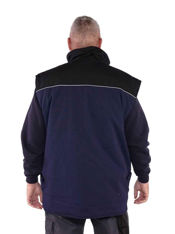 Storvik Bodywarmer Blauw/Zwart - Aron
