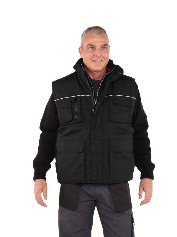 Storvik Bodywarmer Zwart/Zwart - Aron