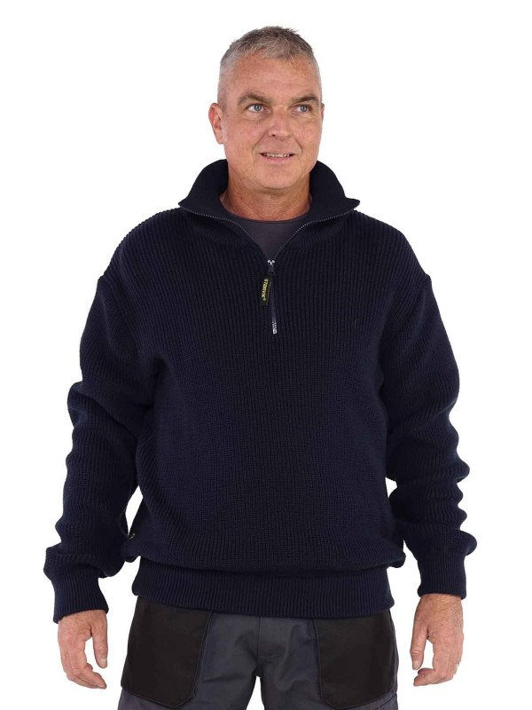Schipperstrui 100% acrylic - Donkerblauw - Storvik - Perth