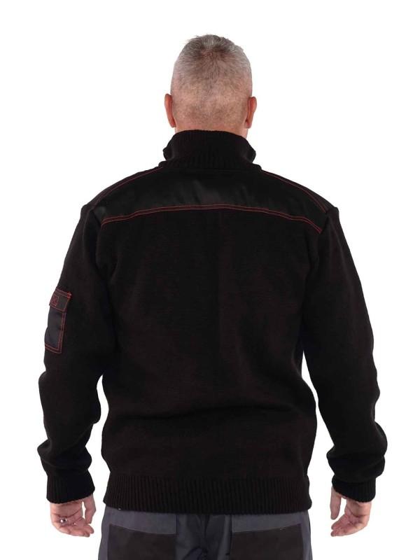 Schipperstrui 30% wol 70% acrylic - Zwart - Storvik - Clayton