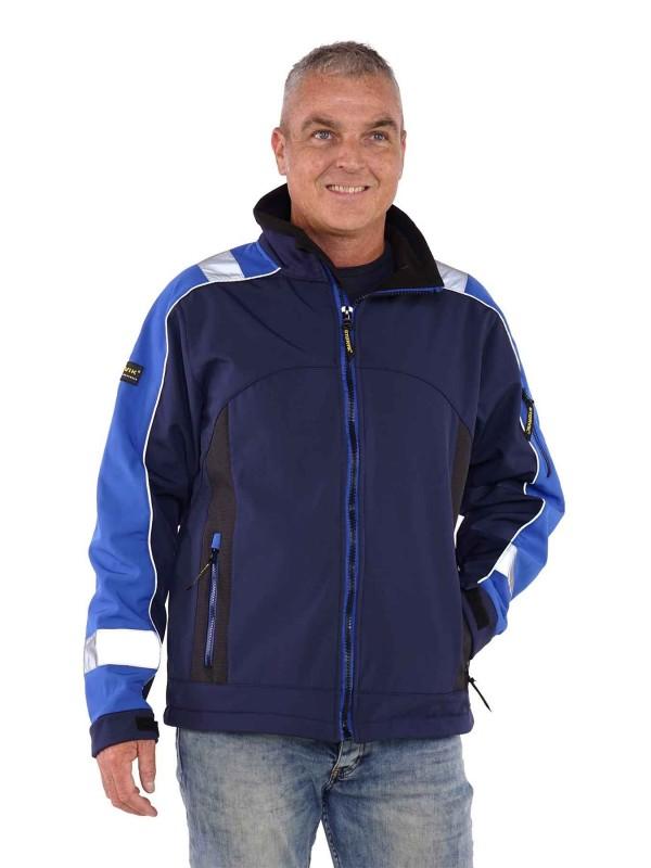 Storvik Softshell Werkjas blauw - Glenn