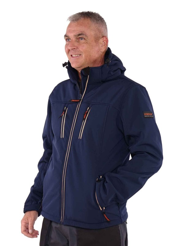 Softshell Werkjas Winter - Donkerblauw - Storvik - Clive