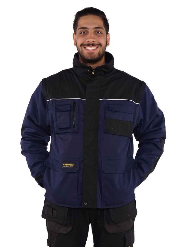 Storvik Werkjas Donkerblauw/Zwart - Aron