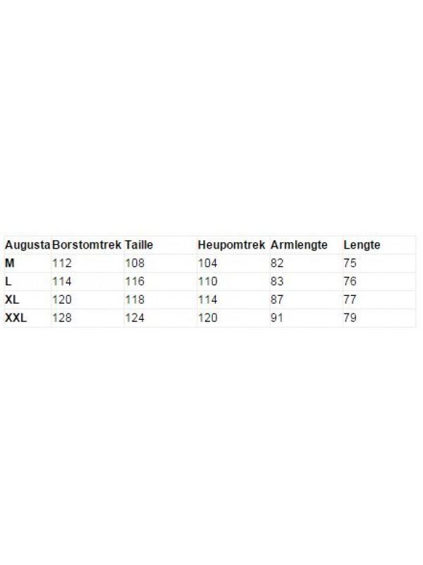 MAATTABEL SCHIPPERSTRUI 50%/50% donkerblauw  - Augusta