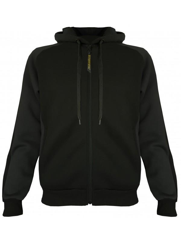 Zwart capuchon vest