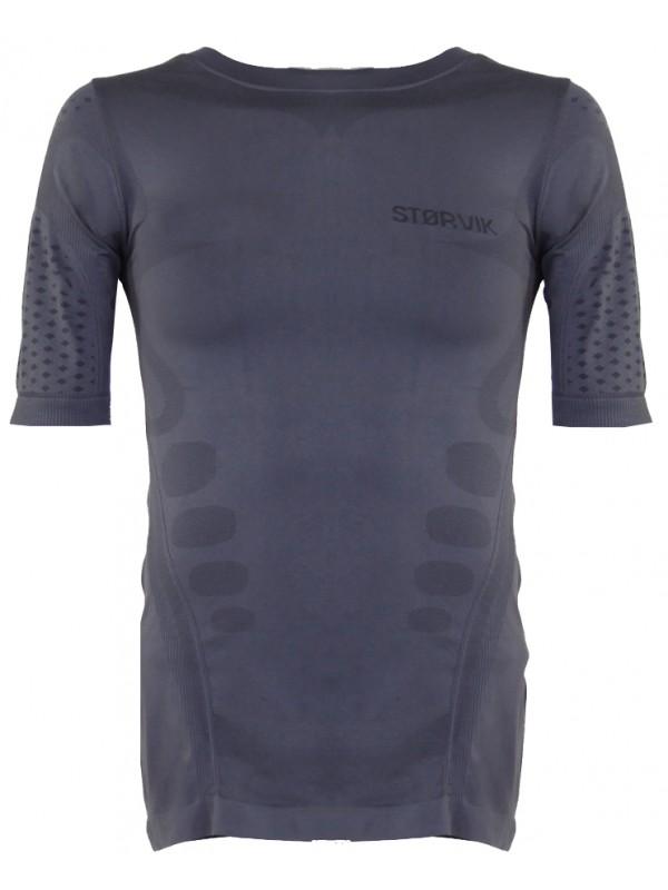 Grijs thermoshirt met korte mouw